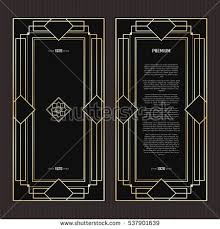 Art Deco Design Elements Art Deco Vintage Patterns Design Elements Stock Vector 342513785