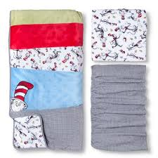 Cat In The Hat Crib Bedding Set Dr Seuss By Trend Lab 3pc Crib Bedding Set Cat In The Hat Target