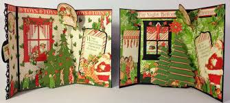 graphic 45 twas the night before christmas envelope 3d cards