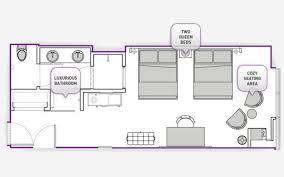 Caesars Palace Floor Plan Cosmopolitan Rooms U0026 Suites