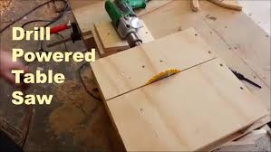convert portable circular saw to table saw drill powered mini table saw woodworking youtube