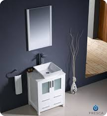 Bathroom Vanity For Vessel Sink Fresca Fvn6224wh Vsl Torino 24