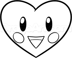 how to draw a chibi valentine heart step by step valentines