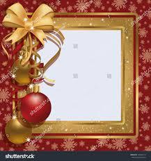 christmas greeting photo frame scrapbooking vector stock vector
