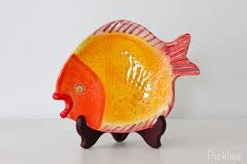 ceramic fish platter handmade ceramic fish platter yellow small picklee on