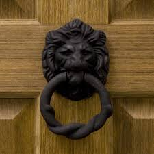 rustic iron lion door knocker hardware