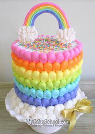 cake decorating puffed rainbow cake free cake decorating my cake school