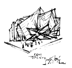 cocktail sketch royal ontario museum napkin sketch architecture design process