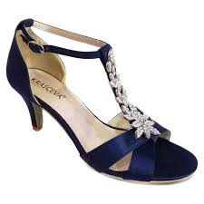 wedding shoes direct matilda navy blue diamante strappy sandal bridal shoes