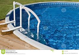 above ground pool and ladder royalty free stock images image