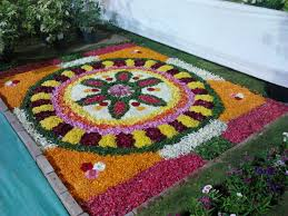 ugadi decorations at home rangoli designs with flowers rangoli flower rangoli pookalam