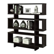 modern dark wood bookcases houzz