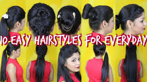 10 easy hairstyles for everyday superprincessjo youtube