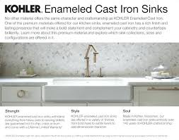 cast iron apron kitchen sinks kohler cast iron farmhouse sink click here to learn more about