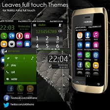 themes nokia asha 308 download leaves theme for nokia asha full touch asha 311 asha 305 asha 305