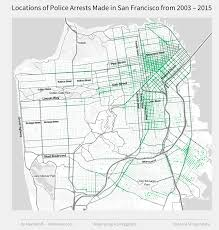 Sf Crime Map Mapping Where Arrests Frequently Occur In San Francisco Using