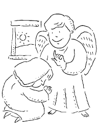 angel appears to mary and she bow under him coloring pages bulk
