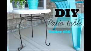 how to make an easy patio table cost less than 30 dollars