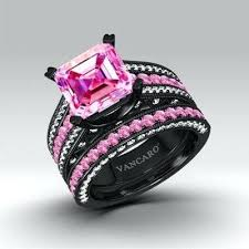 black and pink engagement rings black and pink diamond rings pink black diamond rings pinster