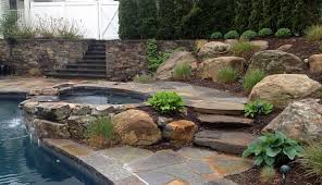 garden stone slate tile pavers and surfside pools ideas with