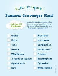 summer scavenger hunt printable little passports
