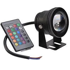 color changing flood light bulb dc12v 10w rgb underwater led spot light outdoor underwater lighting