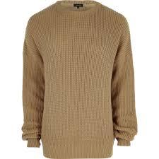 fisherman sweater camel oversized fisherman sweater sweaters cardigans sale
