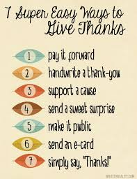 7 ways to give thanks written reality