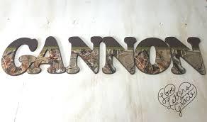Camo Bedroom Decor by Camo Nursery Letters Camo Wood Letters Camo Name Kid U0027s Camo