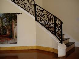 decorative stair railings with decorative wrought iron indoor