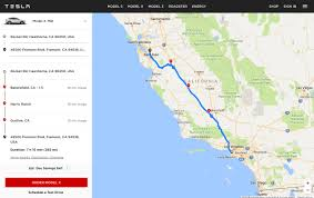 map trip tesla launches ev trip planner tool with map of supercharger