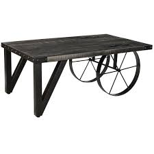 Mango Wood Outdoor Furniture - zahir distressed grey mango wood cast iron coffee table free