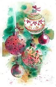 original watercolor print of a painting ornaments wall