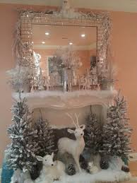 gold decorating ideas and white christmas tree with silver