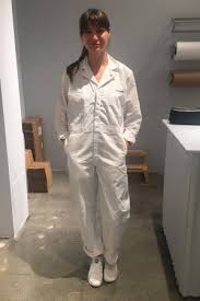 all white jumpsuits at gwyneth paltrow s goop pop up all employees wear white
