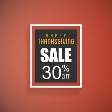 background thanksgiving sales vector free
