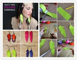 how to make feather earrings how to make adorable diy duct feather earrings diy tag