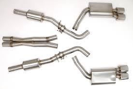 Dodge Challenger Exhaust Systems - dodge challenger srt8 cat back exhaust system oval tips 6 4l