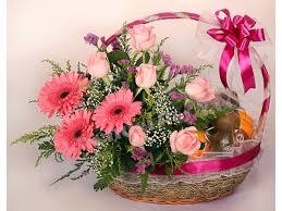 fruit flowers delivery the most fruit flower basket 1 4 ffb1 4 lavender flora florist