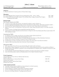 Resume Sample With Skills Section by Common Resume Skills Resume For Your Job Application