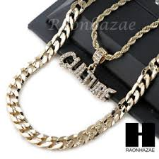 necklace diamond ebay images Iced out migos culture 2 charm diamond cut 30 quot cuban chain jpg