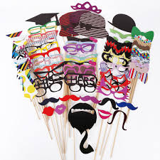 online cheap new diy funny photo booth props glasses mask hat