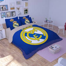 Soccer Comforter Dream League Soccer Real Madrid Logo Printed Bedding Set