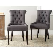 safavieh en vogue dining bowie charcoal grey dining chairs set of