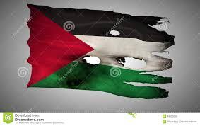 Palistinian Flag Palestine Perforated Burned Grunge Waving Flag Loop Alpha Stock