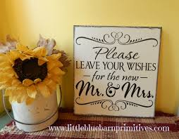 mr and mrs wedding signs leave your wishes for the new mr mrs wedding sign
