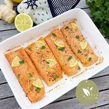 cuisiner du saumon au four recette de saumon au four saumon citron gingembre et citronnelle