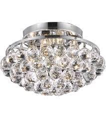 Chrome Flush Mount Ceiling Light by Elegant Lighting V9805f14c Rc Corona 4 Light 14 Inch Chrome Flush