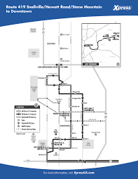 Marta Rail Map Route 419 U2013 Snellville Hewatt Road Stone Mountain To Downtown Xpress