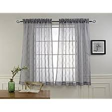 How Do I Hang A Curtain Rod Amazon Com Dii Sheer Lace Decorative Window Treatments For